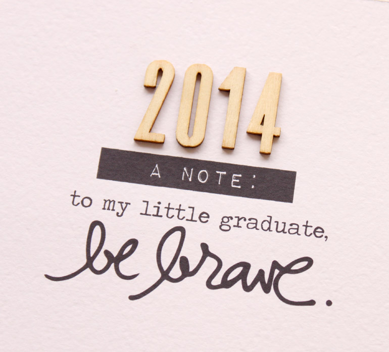 A note to my little graduate…